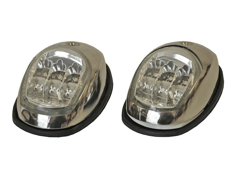 LED Signalleuchten Navigationsleuchten Edelstahl Backbord Steuerbord 12V Licht